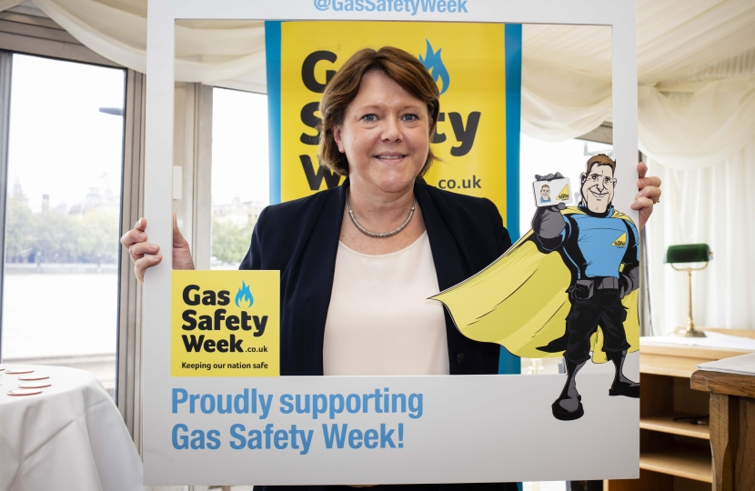 Maria Miller Gas Safety Week Campaign